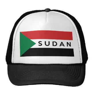 nome do texto do país da bandeira de Sudão Boné
