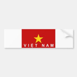 nome do texto do país da bandeira de Vietnam Adesivo Para Carro