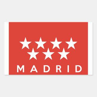 nome do texto do país da espanha da bandeira da adesivo retangular