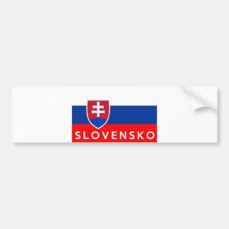 nome do texto do slovensko do país da bandeira de adesivo para carro