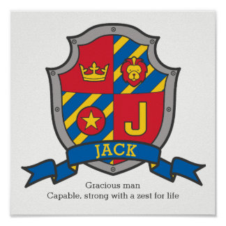 Nome dos meninos J de Jack e significado do poster