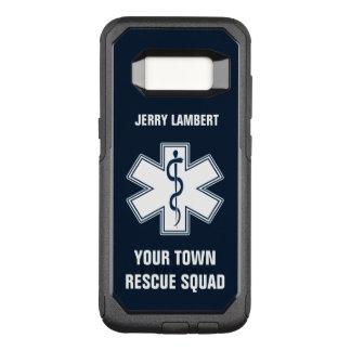 Nome e pelotão do paramédico de EMT EMS Capa OtterBox Commuter Para Samsung Galaxy S8