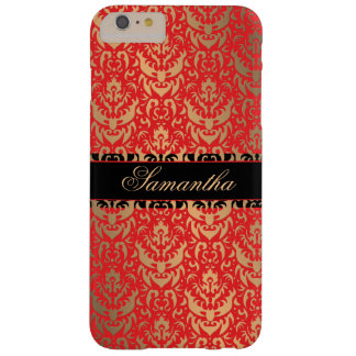 Nome elegante do costume do damasco do Shimmer do Capas iPhone 6 Plus Barely There