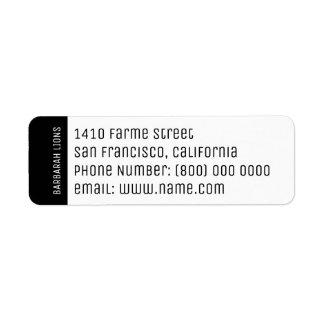 nome, endereço, número de telefone & informação do etiqueta endereço de retorno