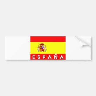 nome espanhol do texto do país da bandeira da adesivo para carro