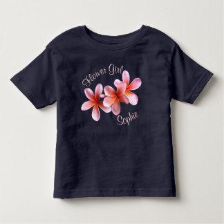Nome feito sob encomenda do florista do Plumeria T-shirt