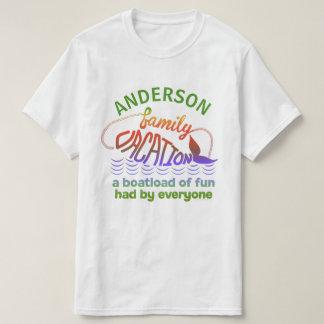 Nome feito sob encomenda engraçado das férias em t-shirts
