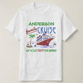 Nome feito sob encomenda engraçado do navio | das camiseta
