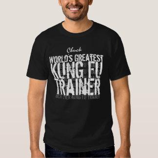 Nome feito sob encomenda V2 do mundo de KUNG FU o T-shirt