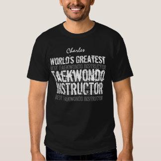 Nome feito sob encomenda V4 do mundo de TAEKWONDO Camiseta