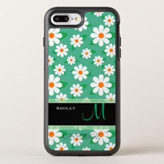 Nome floral do monograma do teste padrão da capa para iPhone 7 plus OtterBox symmetry