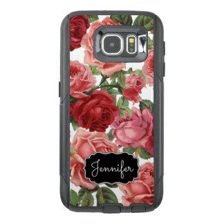 Nome floral dos rosas rosas vermelha elegantes