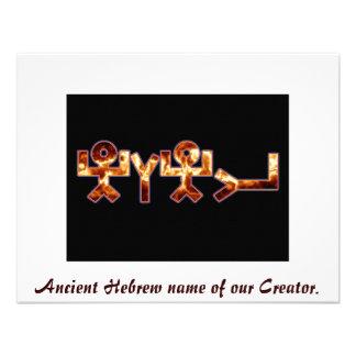 Nome hebreu antigo do יהוה convites