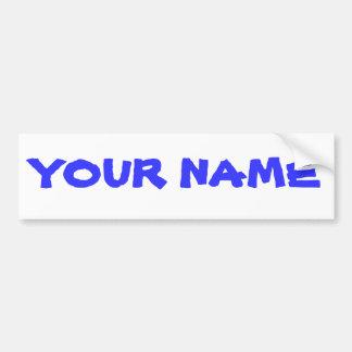 Nome personalizado adesivo para carro