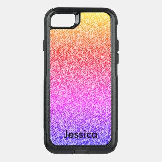 Nome personalizado cores do inclinação capa iPhone 7 commuter OtterBox