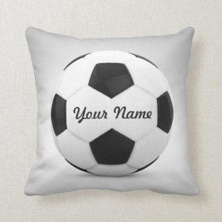 Nome personalizado da bola de futebol almofada