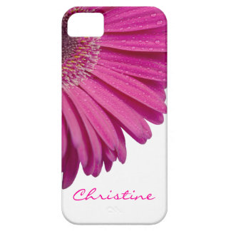 Nome personalizado das meninas da flor da capa barely there para iPhone 5