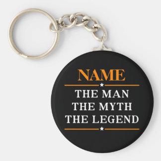Nome personalizado o homem o mito a legenda chaveiro