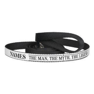 Nome personalizado o homem o mito a legenda coleira para cão