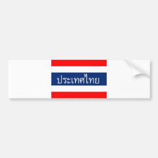nome tailandês do texto do país da bandeira de adesivo para carro