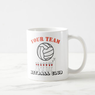 Nome temático da equipe da bola do Netball Caneca De Café