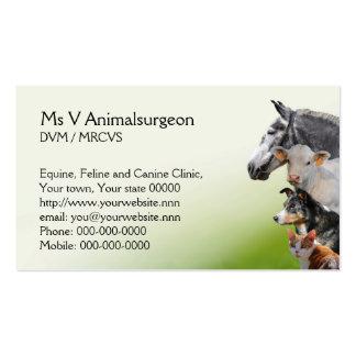 Cartões de visita para veterinários na Zazzle