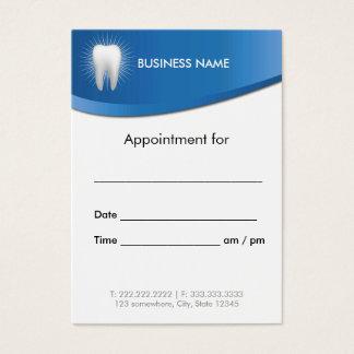 Nomeação azul moderna do dentista do escritório cartão de visitas