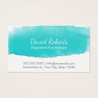 Nomeação da aguarela do conselheiro do psicólogo cartão de visitas