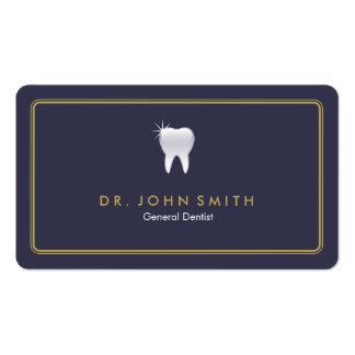 Nomeação dental arredondada do dente dos azuis cartão de visita