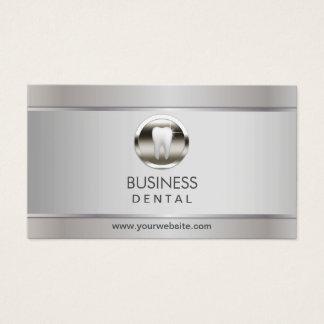 Nomeação dental de prata profissional do dentista cartão de visitas
