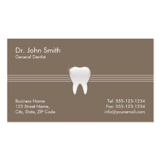 Nomeação dental do dente brilhante de Brown Cartão De Visita