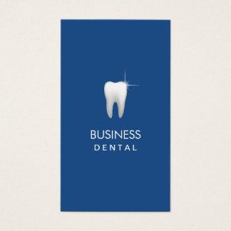 Nomeação dental lisa do profissional dos azuis cartão de visitas