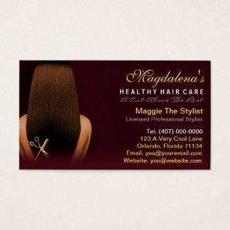 Nomeação do afro-americano do estilista do cartão de visitas