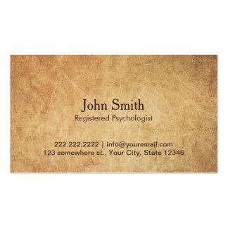 Nomeação do psicólogo do vintage cartão de visita