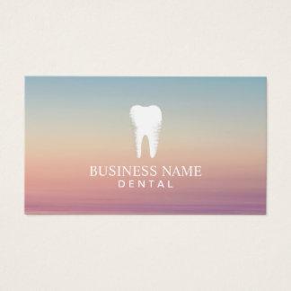 Nomeação dos cuidados dentários do dentista cartão de visitas