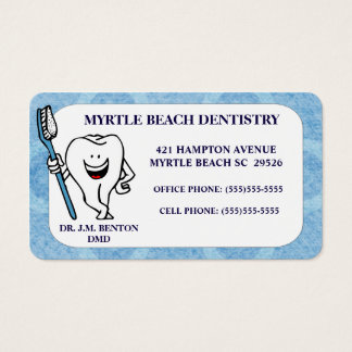 Nomeação e cartão de visita do dentista