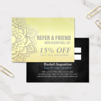 Nomeação elegante da referência da mandala do cartão de visitas