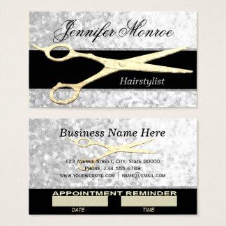 Nomeação elegante do Hairstylist da prata e do Cartão De Visitas