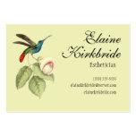 Nomeação elegante do salão de beleza do colibri do cartão de visita