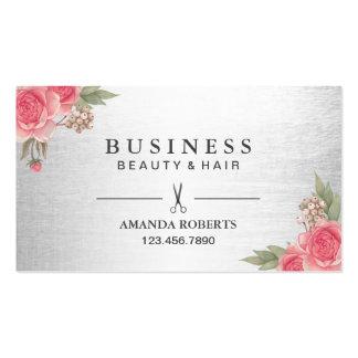 Nomeação floral do salão de beleza moderno do cartão de visita