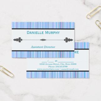 Nomeação listrada ou cartão de visita da matiz