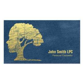 Nomeação pessoal do conselheiro da psicologia azul cartão de visita