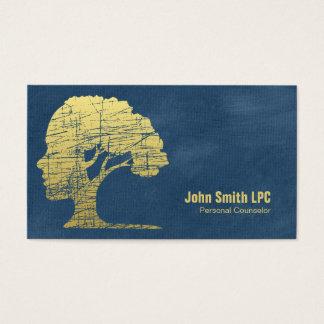 Nomeação pessoal do conselheiro da psicologia azul cartão de visitas