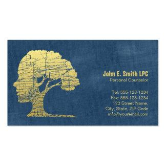 Nomeação pessoal do conselheiro do psicólogo azul cartão de visita