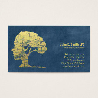 Nomeação pessoal do conselheiro do psicólogo azul cartão de visitas