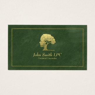 Nomeação pessoal do conselheiro do psicólogo verde cartão de visitas