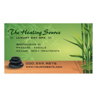 Nomeação sereno da massagem e dos termas cartao de visita