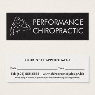Nomeação simples do Chiropractor do logotipo Cartão De Visitas Mini