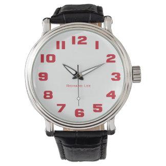 Nomeie o relógio do seu homem - vermelho relógio