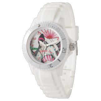 Nomeie sua gueixa japonesa relógio de pulso
